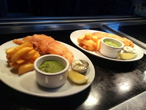 Fish and Chips at the restarant