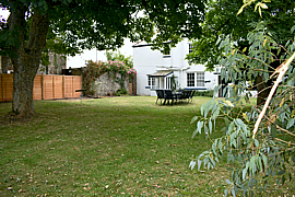 Large back garden at Charter House Devon