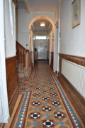 Hallway to front door Georgean property Bideford